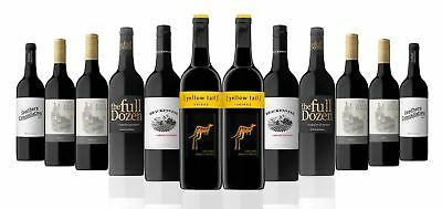 RRP189! OVER 2800 SOLD! AU Red Mix Wine Incl 2 x Yellow Tail Shiraz (12x750ml)