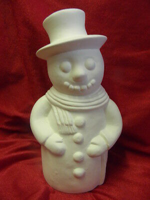 Ceramic Bisque Ready to Paint Traditional Snowman 19cm