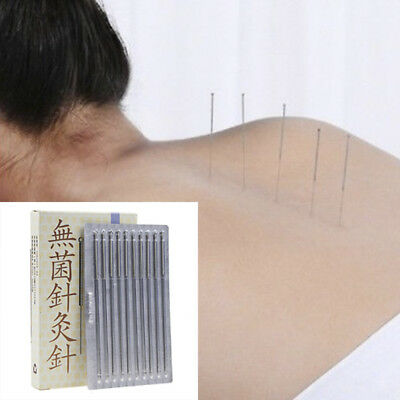 100Pcs/Box Acupuncture Disposable Needle Sterile Needles Single Use Authentic#K