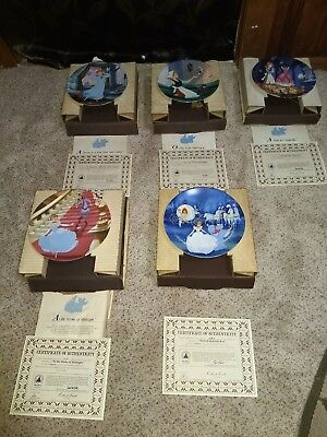 Disney Cinderella 5 plate collection-Knowles