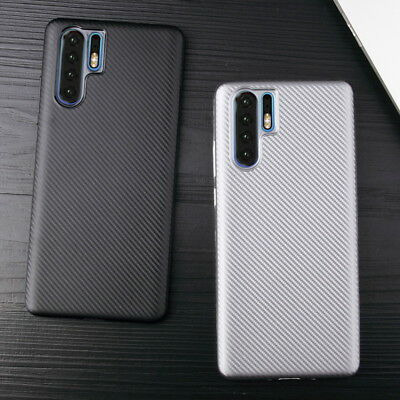 Carbon Fiber Soft TPU Case Cover For Huawei P30 P20 Lite Pro NOVA 3E Y9 2019