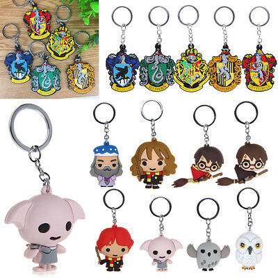 Harry Potter Chibi Metal Keyring Rubber Character Collectible Keychain Gift UK