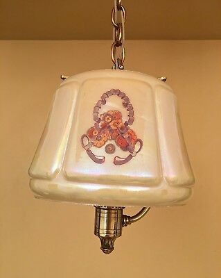 Vintage Lighting extraordinary 1930s pendant by Lightolier