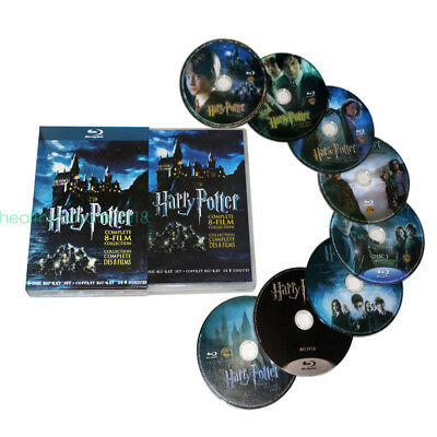 Harry Potter Complete 1-8 Movie DVD Collection Films Box Set As Xmas Gifts UK