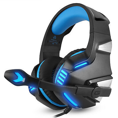 Hunterspider V3 3.5mm Gaming Headset Mic LED Headphones For PC PS4 Xbox one Pro
