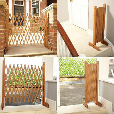 Freestanding Stairway Pet Barrier Tall Dog Gate Expanding Fence Outdoor Indoor