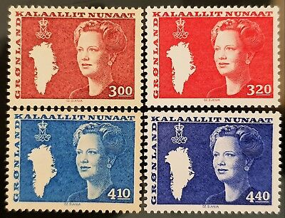 Greenland 1985 to 1989 Sc # 129 Sc # 130 Sc # 132 Sc # 133 Mint MNH Stamps Lot