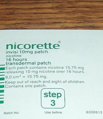 NICORETTE INVISI 10mg Patch - Step 3 X 10 Patches