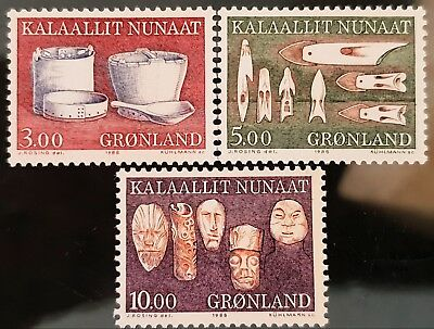 Greenland 1986 to 1988 Sc # 165a Sc # 168 Sc # 172 Mint MNH Stamps Lot