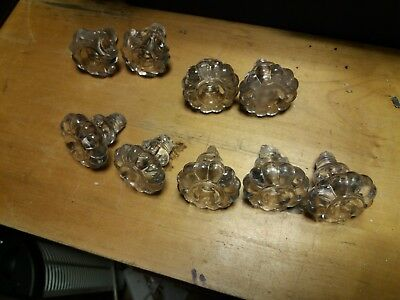 Vintage glass drawer knobs