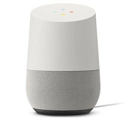 Google Home Smart Speaker Hands-Free Personal Assistant - Slate fabric / Blanc