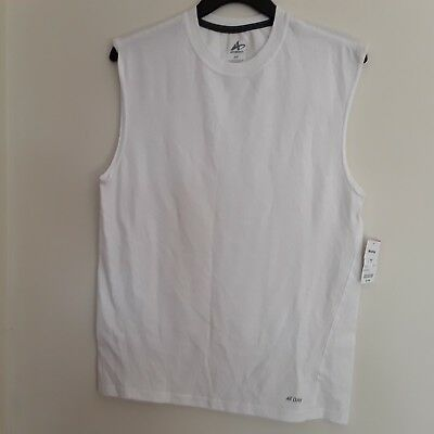 283eed64a4815 Mens shirt muscle tee brand Athletech new with tags color white moisture  wicking