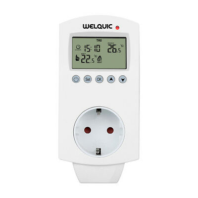 Welquic Plug-In Thermostat Chauffage Refroidissement Programmable Contrôleur