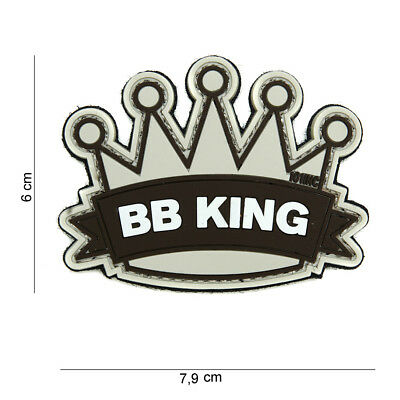 Morale Patch 3D PVC BB king beige airsoft softair  hook and loop