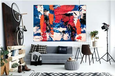 COLORFUL ABSTRACT HOME WALL DECOR BEAUTIFUL PictureS Art Canvas choose your size