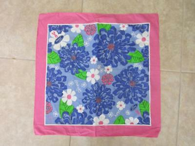 Lilly Pulitzer for Ford Mum & Daisy Print Breast Cancer Awareness Square Scarf