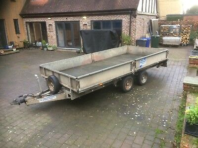 """Ifor Williams Lm146G Flat Bed Trailer 3.5 Tonne Twin Axle Drop Sides 14' X 6'6"""""""
