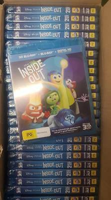 Inside Out 3D Blu-ray + 2D Blu-ray (Job Lot Wholesale x25) New & Sealed