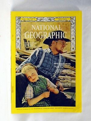 National Geographic magazine July 1970 Hutterites Nature Luxembourg Cappadocian