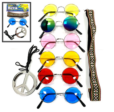 Pick and Choose - Hippy Fancy Dress Glasses Set Costume Hippie 1960 Peace Sign