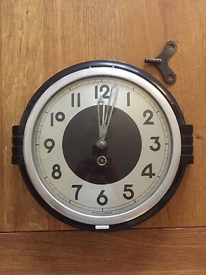 Japy Art Deco Vintage Antique Wall Clock With Key Rare