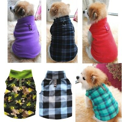 Small Pet Dog Fleece Harness Vest Puppy Cat Sweater Shirt Coat Jacket Apparel US