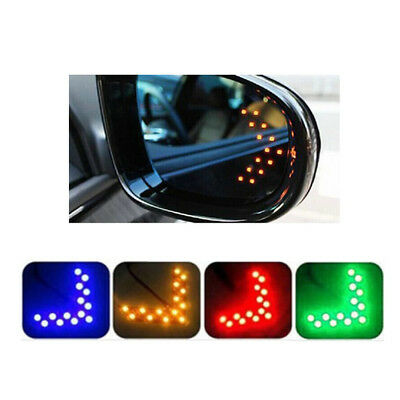 2x Car Auto Side Rear View Mirror 14-SMD LED Lamp Turn Signal Lights Accessory
