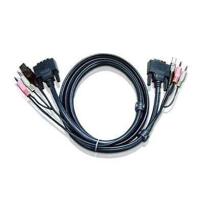 Aten DVI-I Single Link USB KVM Cable with Audio 3m meters