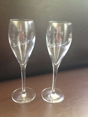 Veuve Clicquot So Clicquot Champagne Glasses Genuine X 2 Brand New Unboxed