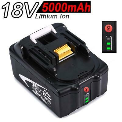 5.0AH 18V Battery For Makita BL1850 BL1840 BL1830 BL1815 with Fuel Guage