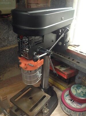 performance power 5 speed  bench drill,used twice and only slightly used.