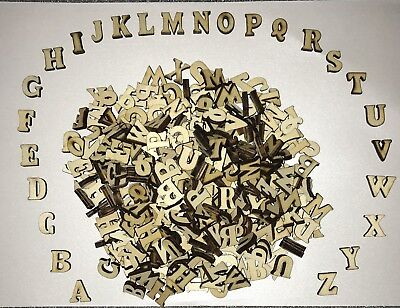 370 Wooden Craft Letters Bulk