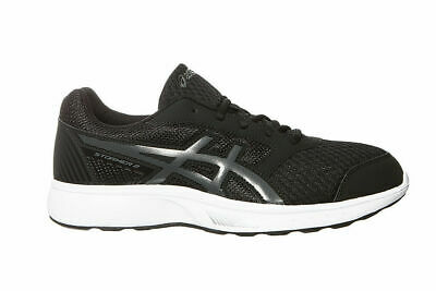 ASICS STORMER 2 Mens BlackGreyWhite Running Trainers Shoes T843N.9097 Size
