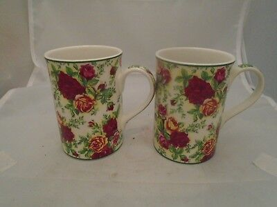 Royal Albert Old Country Roses Afternoon Tea Tall Mugs Set of 2