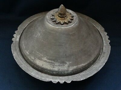 antique Ottoman copper plate very rare plate tray lid Islamic copper plate Dome