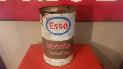 Bidon ESSO extra motor oil old collection garage