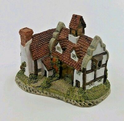 """Vintage DAVID WINTER Cottages """"The Schoolhouse"""" Hand Made 1985"""