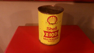 Shell x-100 multigrade motor oil old collection garage