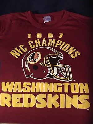 Vtg 1987 Washington Redskins NFC Champions T-Shirt Xl 80s NFL