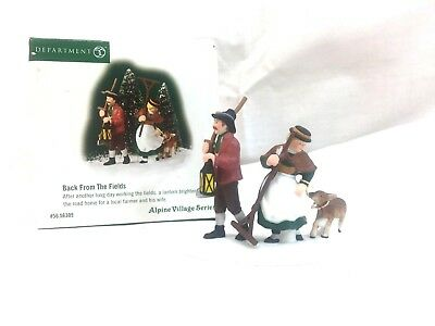 ~Dept 56 Heritage Village Collection Alpine Village Series BACK FROM THE FIELDS~