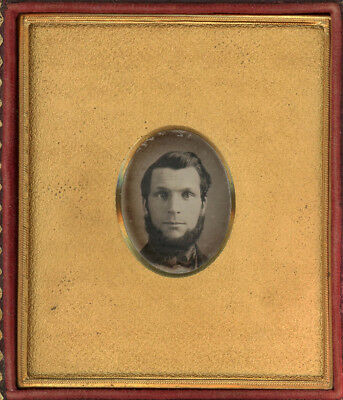 Dag With A Wonderful Large Pebbled Mat, Man With Beard Daguerreotype
