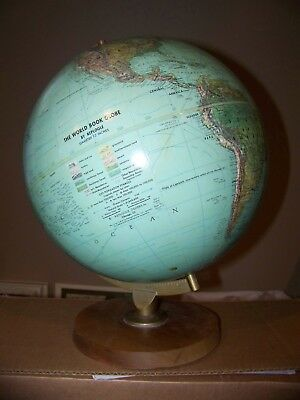 """VTG World Book Table Top Globe by Replogle 12"""" Dia. Textured Surface"""