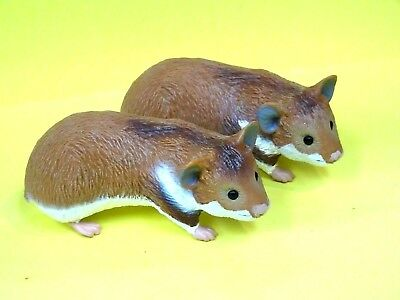 "Fun Pair Safai Limited Lifesize Heavy PVC Hamsters Look Real 2008 4.5"" Long"