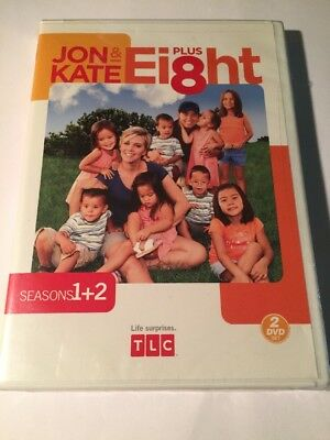 Jon  Kate Plus Ei8ht - Seasons 1- 2 (DVD, 2008, 2-Disc Set) BRAND NEW