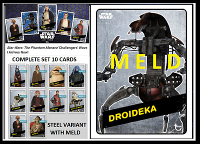 Topps Star Wars Card Trader Tpm Challengers [Set 10 Cards]W/ Meld Droideka Steel