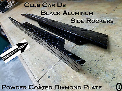 Club Car Ds Golf Cart Black Powder Coat Aluminum Diamond Plate Full Side Panels
