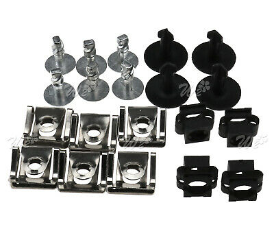 Undertray Guard Engine Under Cover Fixing Clips & Screw KIT For AUDI A4 A6 A8