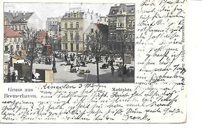 GRUSS AUS BREMERHAVEN GERMANY #3 1906 mailed