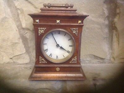 A Genuine Antique Wooden Mantle Clock ( No. 8412 F ) Full Working Order.