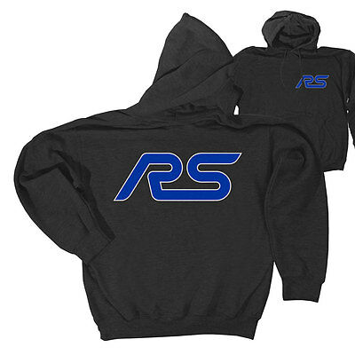 Apparel Hoodie Pull-Over Gray With Blue RS Logo Large